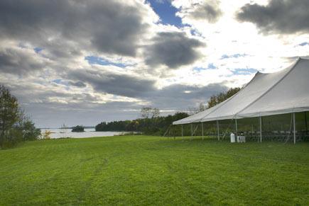 Wedding Field Tent & Margaret u0026 Karlu0027s Wedding: Location